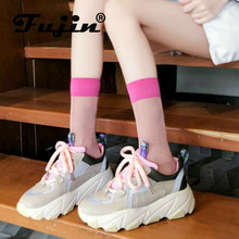 Fujin Sneakers Women Autumn Thick Bottom Dropshipping Fashion Muffin Breathable Mesh Cross Tied Leisure Shoes