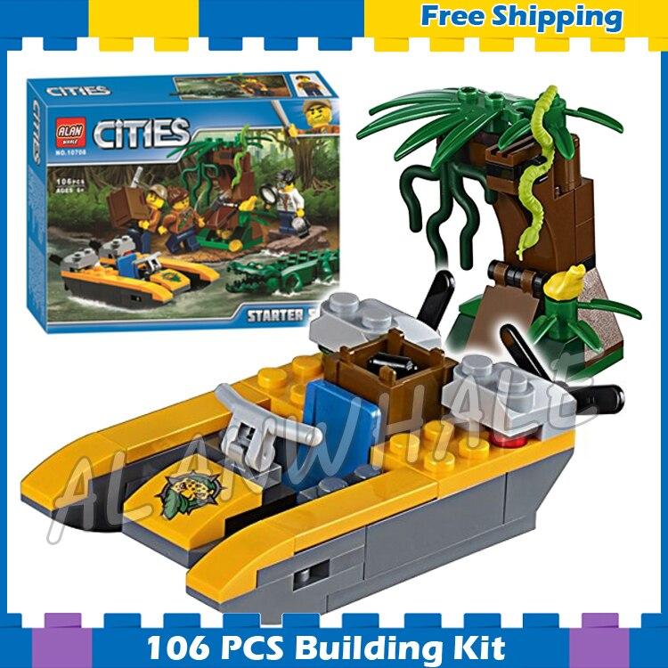 106 Stks Stad Jungle Ontdekkingsreizigers Starter Set Regen Bos 10708 Model Bouwstenen Politie Kinderen Geschenken Sets Compatibel Met Lego Kortingen Prijs