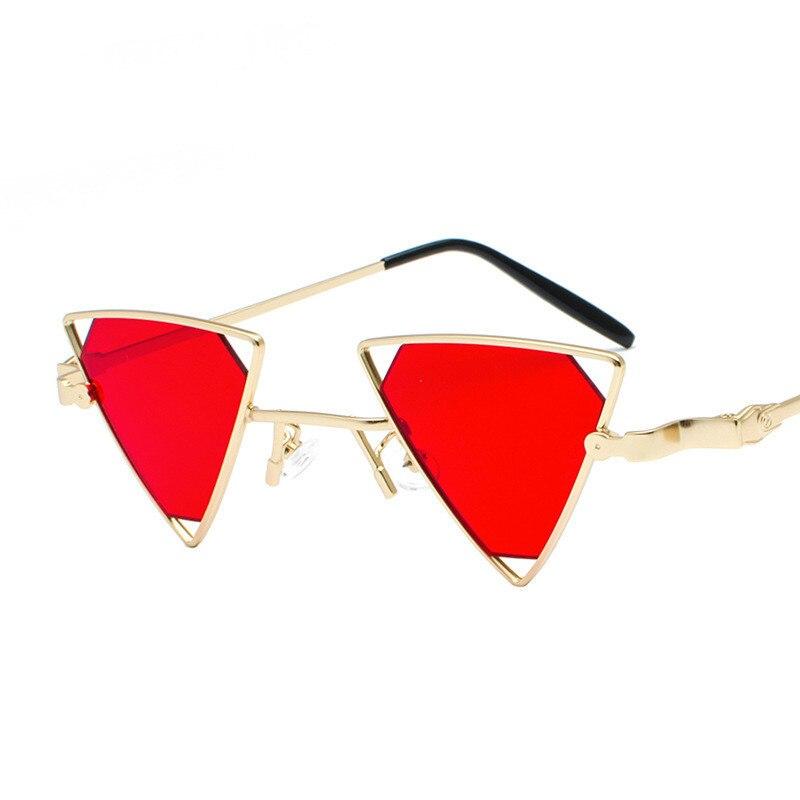 Vintage Punk Dreieck Sonnenbrille Frauen Männer Metall Rahmen Rosa ...