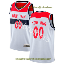 f8687a52fef8 China OEM Factory Custom Basketball Jersey Washington White Sport Sweater  Design DIY Your Own College Team