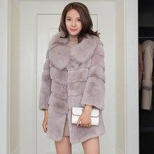 Reale per tutta la pelle rex collo di pelliccia da donna onda cut cappotti  di pelliccia del coniglio della tuta sportiva delle d. 4c6bed84e9d