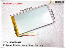 3.7V,6000mAH,[3280150] PLIB ( polymer lithium ion battery ) Li-ion battery for tablet pc,GPS,mp3,mp4,cell phone,speaker