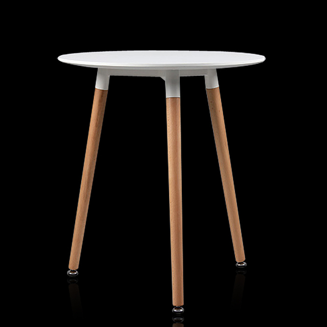 Ikea Furniture Denglai Myers Personality Casual Round Table Modern Wood Legs Can Be Adjusted Parlor Tables