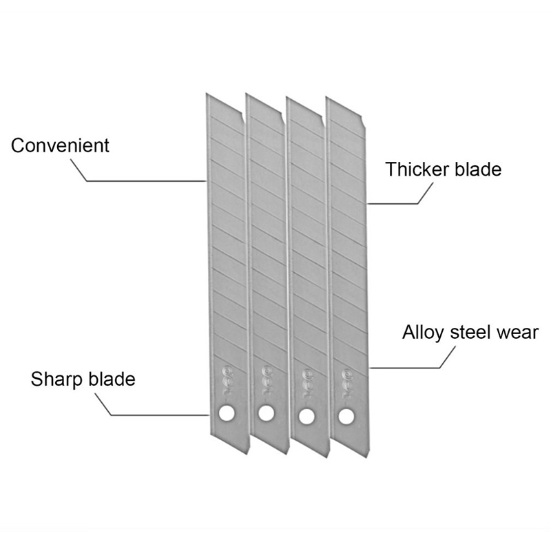 Deli 10pcs pack Cutting utility Knife Blades 9MM Art Paper Low Carbon Alloy Steel Paper Office Stationery in Utility Knife from Office School Supplies