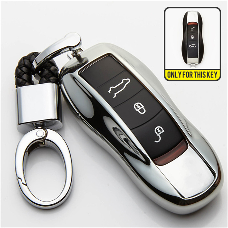 TPU Car Remote Key Shell Cover Case For Porsche Cayenne 911 996 Panamera Macan Car Protection Shell Auto Accessories Styling in Key Case for Car from Automobiles Motorcycles