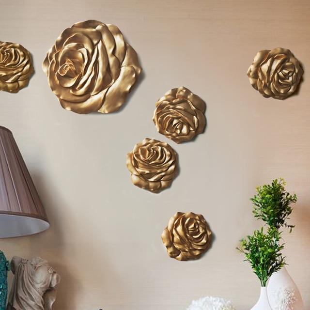 Аксессуары для дома моды мюоны стены стерео цветок смола ТВ фоне стены украшения настенный украшения