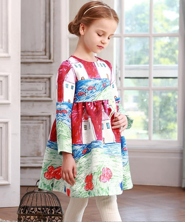 Promotion! girls dress new 2016 kids clothes girl vestidos casual ...