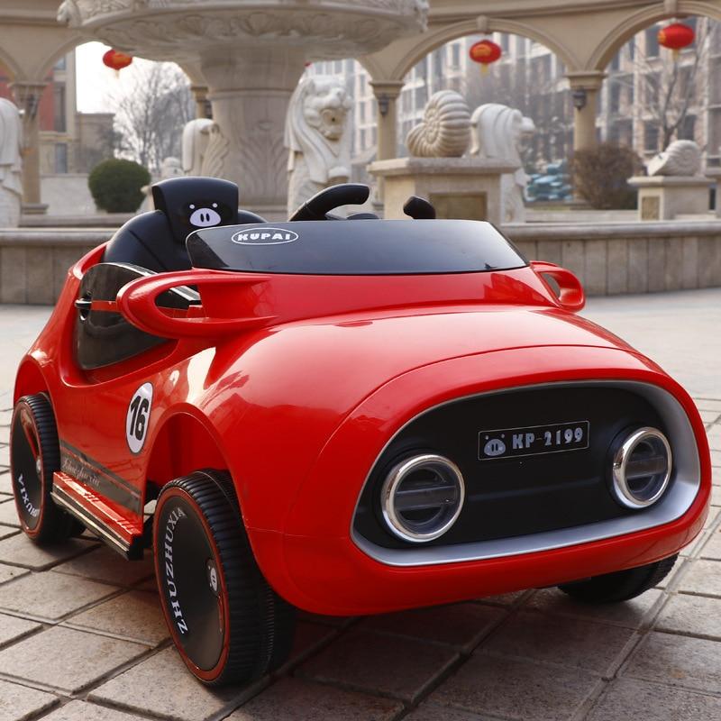 Voiture de véhicule électrique pour enfants balançoire à quatre roues Double moteur bébé garçons monter sur voiture télécommande jouets électriques voiture voiture RC