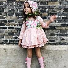 Chica Floral vestido de bebé princesa fiesta España cumpleaños navidad  niños vestidos PP pantalones sombrero arco traje de niña . 29c4a5f77f76