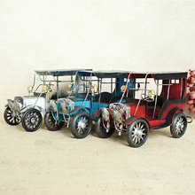 Classic retro car vintage classic simulation, handmade wrought iron toy, collection model, free shipping
