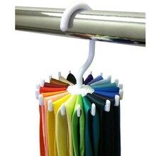360 Rotating Tie Rack ajustável Tie Hanger homens titular 20 gravata organizador
