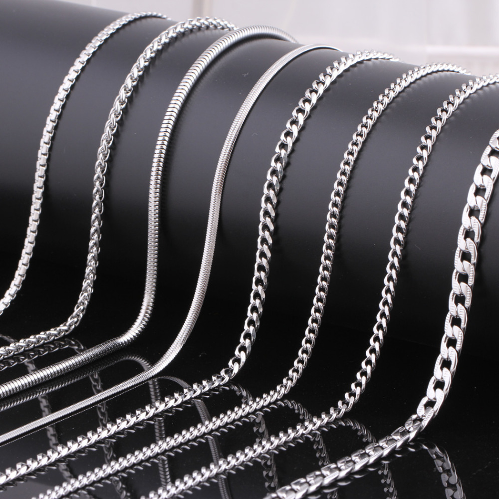 in necklace from fashion steel men accessories for wholesale jewelry stainless customized item on women snake chains chain necklaces