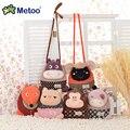 candice guo! Metoo cute plush toy animal monkey sheep fox small crossbody bag coin purse money clip 1pc