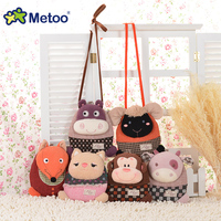 candice guo! Metoo cute plush toy animal monkey sheep fox small crossbody bag coin purse money clip 1pc