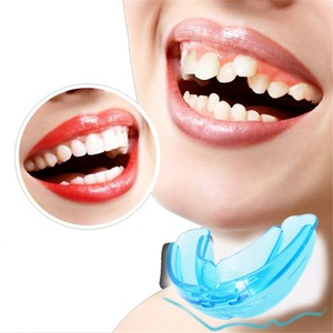 1 قطعة لينة تقويم هدفين باك الأسنان الخدم الملاكمة أبواق حامي الأسنان الأسنان تقويم الأسنان اجهزة المدرب