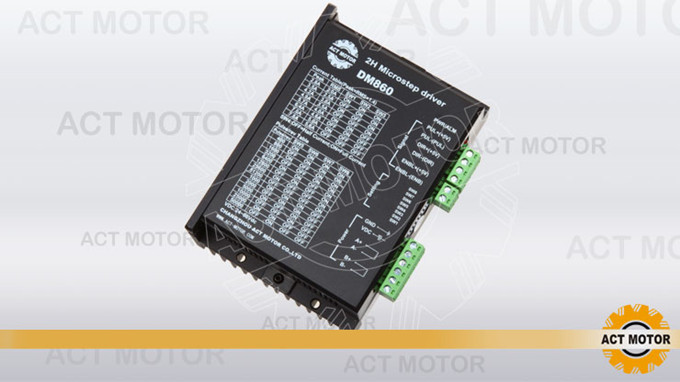 Top Quality! ACT Stepper Motor Driver DM860 80V 7.8A 256Microsteps for Nema34 Stepper Motor CNC Router Mill Engraving Printer original dma860h cnc nema23 nema34 stepper motor driver peak current 7 2a vac 18 80v for cnc router engraving milling machine