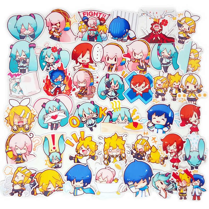 40 штук пакет Hatsune Miku мультфильм милый стиль альбом скрапбук водонепроницаемые декоративные наклейки DIY подарок ручной работы Скрапбукинг стикер