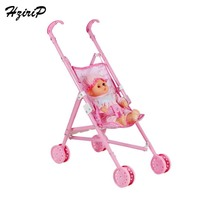 HziriP New Cute Dolls Model Safety Simulation Baby Stroller Toy Set Pretend Play Educational Toys for Children Girls Gifts