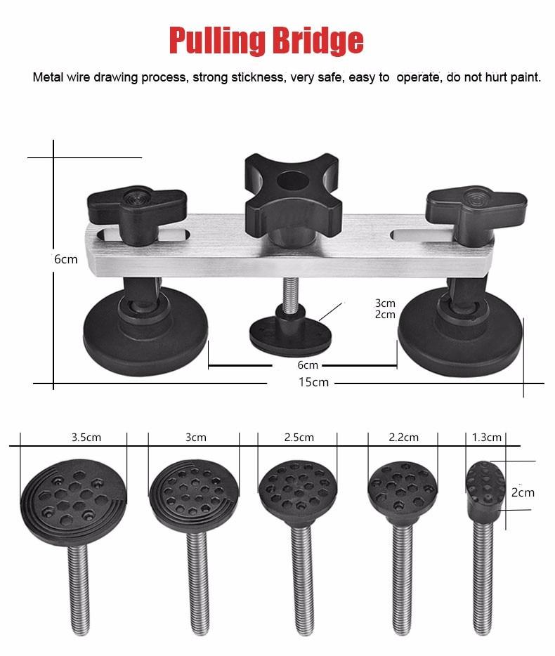 PDR automatinio remonto įrankis, bespalvis dantų nuėmėjas, - Įrankių komplektai - Nuotrauka 5