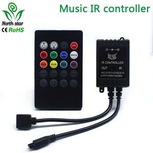 Image 2 - 新 20 キー音楽 ir コントローラブラックサウンドセンサー rgb led ストリップ高品質
