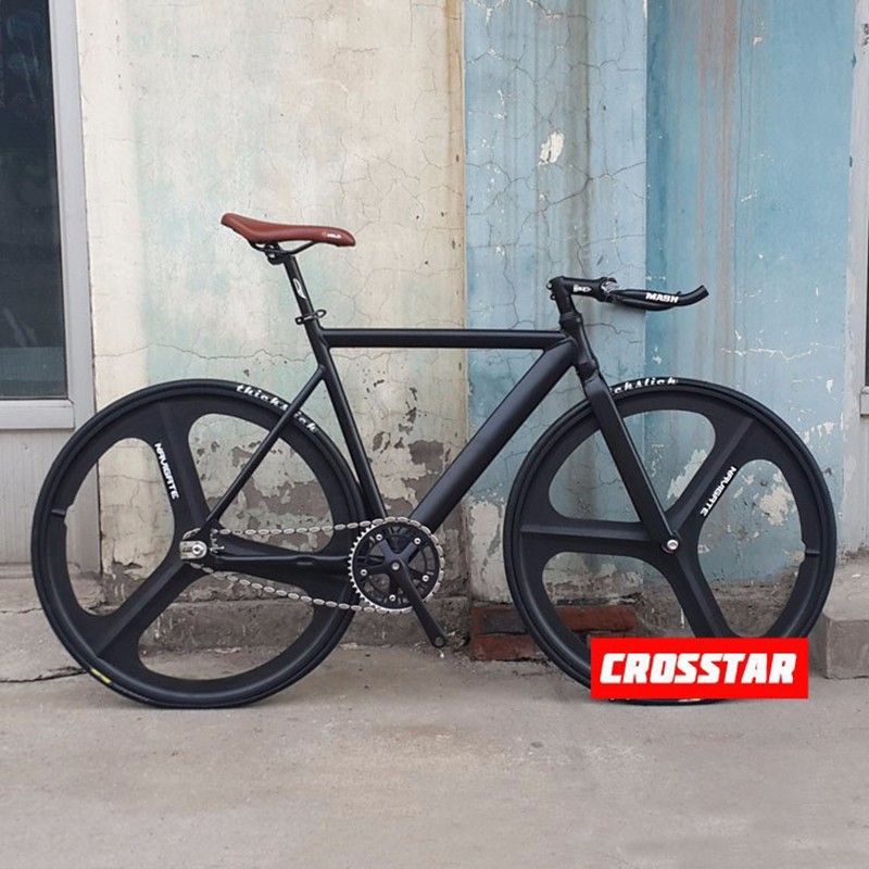 Fixed Gear Bike Fixie frame 53cm 55cm 58cm DIY 700C Muscular Aluminum alloy Bike Track Bike Bicycle wiith 3 Spoke wheel rim