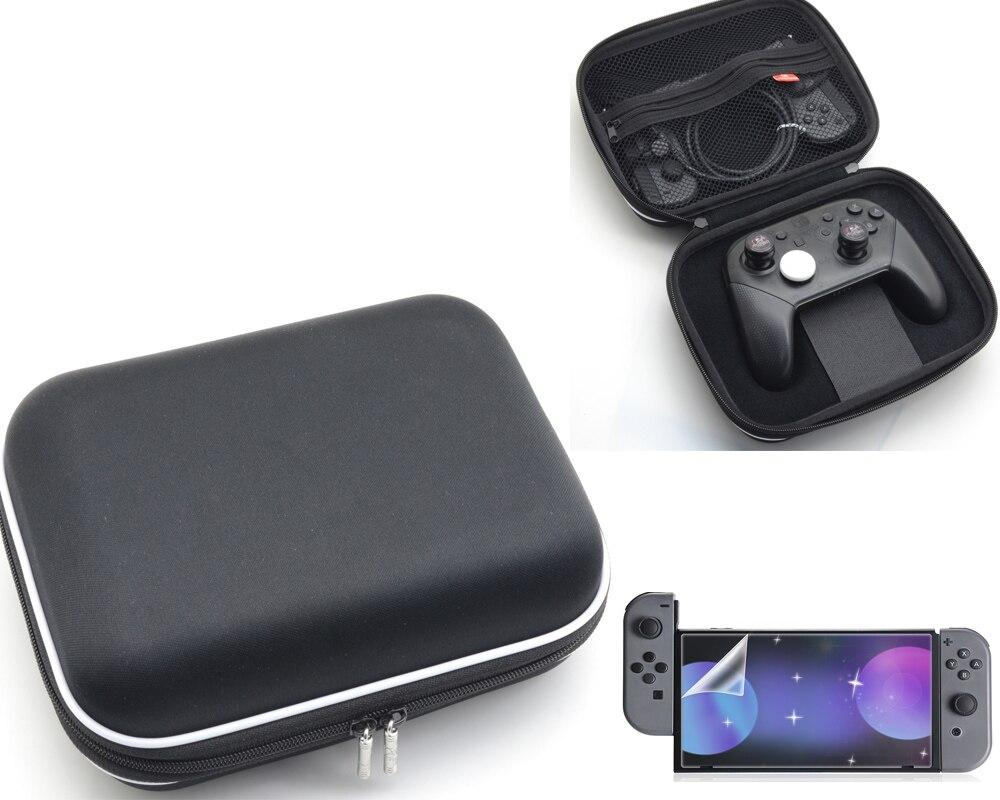 Unterhaltungselektronik Lagerung Tasche Für Nintend Schalter Konsole Gehärtetem Glas Screen Protector Für Nintendoswitch Joystick Grip Caps Für Nitendo Freude-con Videospiele