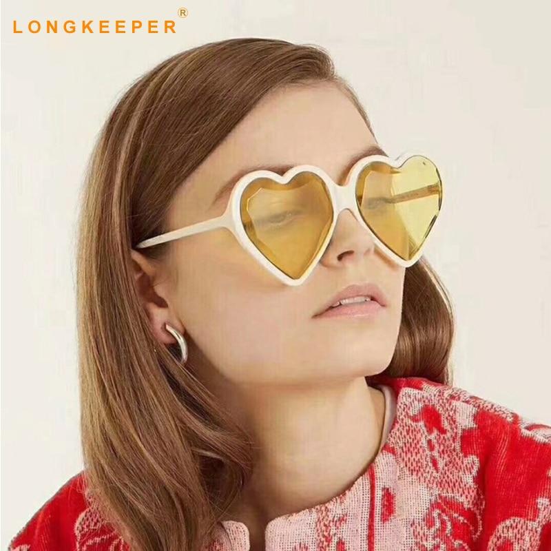 5bc453184 Brand Heart Shaped Mirror Sunglasses Women Love Heart Shapes Sun Glasses  Black Pink Shads Sunglasses lunette de soleil homme