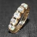 Queen brilliance 1.25 ct f cor da faixa do casamento metade eternity banda matching banda genuine 14 k 585 ouro amarelo moissanite diamante