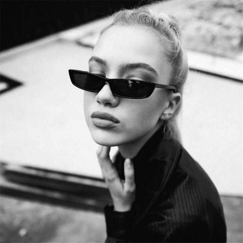 Vintage Rectangle Sunglasses Women Brand Designer Small Frame Sun Glasses Retro Black Eyewear