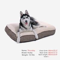 Köpek Yatak Yastık Süper Yumuşak Pamuk Sıcak Alt kaymaz Kedi Büyük Ayrılabilir Kapak Ile köpek Yastık Mat Kolay Temiz Pet House