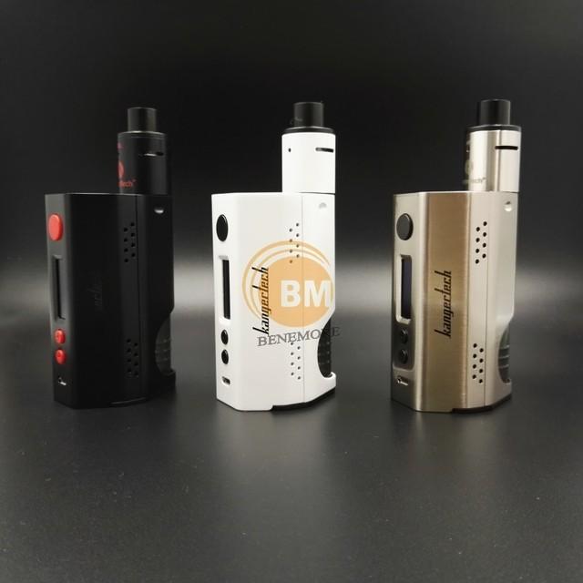 Armazém rússia Kangertech Dripbox 160 Kit Vape Caixa Mod 18650 com 7 ML Vaporizador RDA Melhor Cigarros Eletrônicos