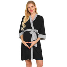 0cb3d80ed3a57 MUQGEW Women Dress Maternity Nursing Robe Delivery Nightgowns Hospital Breastfeeding  Gown Dresses Mons Summer Pregnant Dress