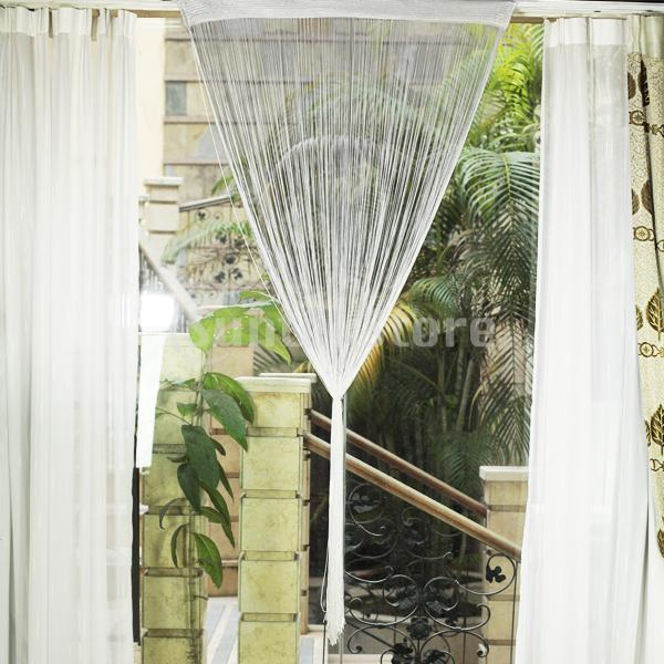 Fringe Window Divider Tassel Hanging String Door Curtain White In Curtains From Home Garden On Aliexpress