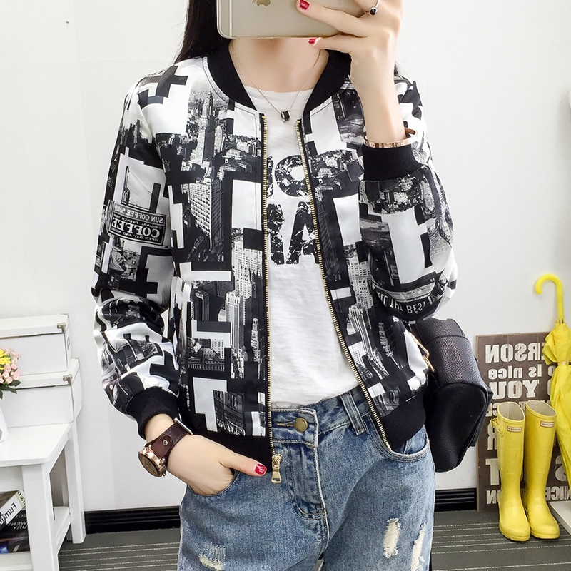 2018 New Spring Botanical   Jacket   Autumn   Basic     Jacket   for Women Multicolor Collarless Elegant   Jackets   and Coats