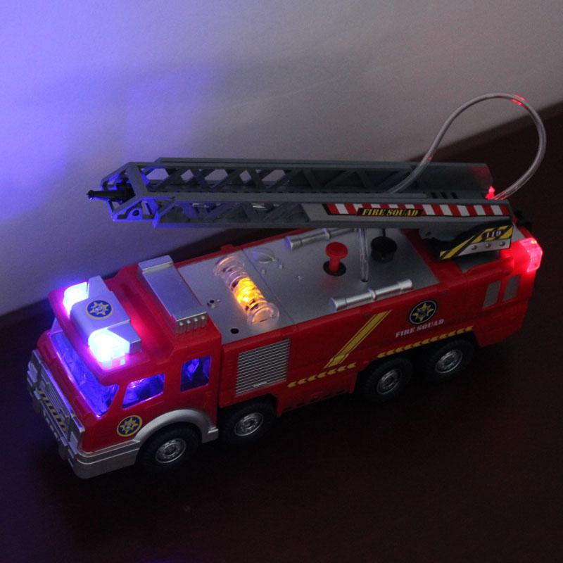 Fireman Sam toy car model small Music lights fire truck life-saving lada samara kids toy water spray Sprinkler fire engines image