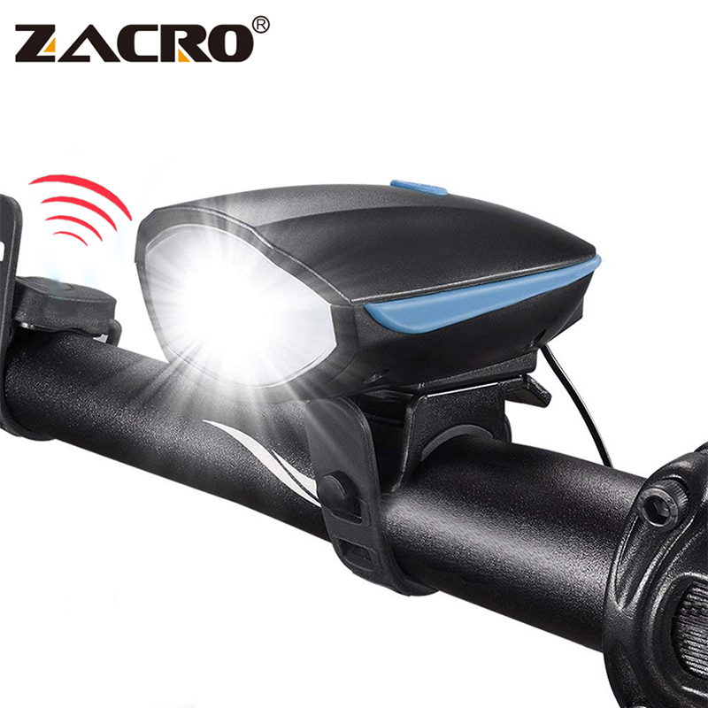 Zacro Luz de bicicletas con Bell 250 lúmenes luces corrientes multifunción faro para bicicleta Mtb ciclismo de carretera Led Accesorios