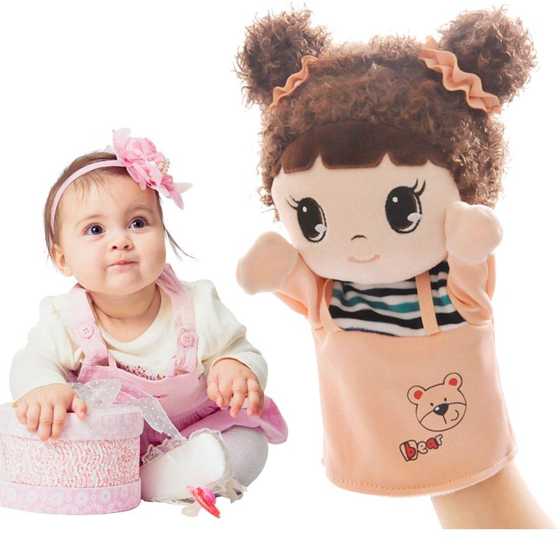 Sweet Cartoon Doll Hand Puppet Plush Toys Classic Children Figure Toys Soft Kids Doll Baby Stuffed Toy for Girls Children Gifts plush ocean creatures plush penguin doll cute stuffed sea simulative toys for soft baby kids birthdays gifts 32cm