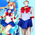 Sexy Sailor Moon Costume Cartoon Movie Cosplay Costume Set Custom Size Handmade New