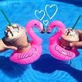 2016 новый 5 шт./лот мини-мило розовый фламинго плавающей надувные напиток может держатель бассейн ванна игрушка бассейн водные развлечения бассейн игрушки