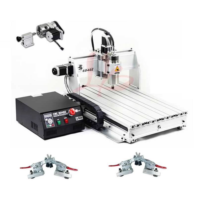 CNC Milling Machine 4 Axis CNC Router 6040 with 1.5KW Spindle USB port CNC 3D Engraving Machine for Wood Metal movable cast aluminium bracket 65mm for cnc engraving milling machine spindle