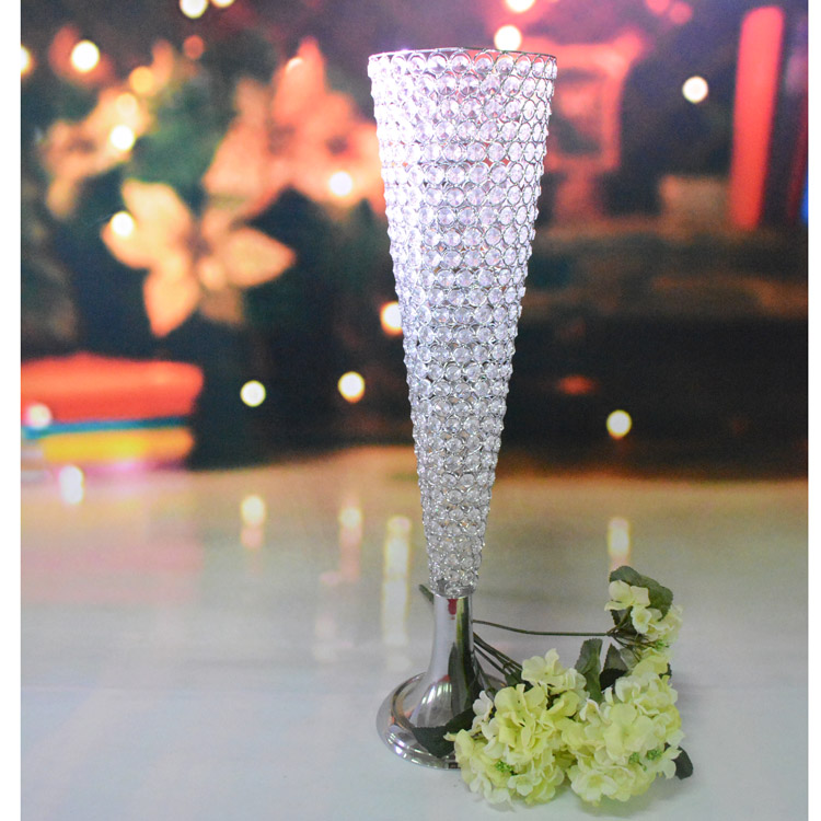 Free shipping prices candle holder center pieces for wedding decoration crystal Desk candlesticks