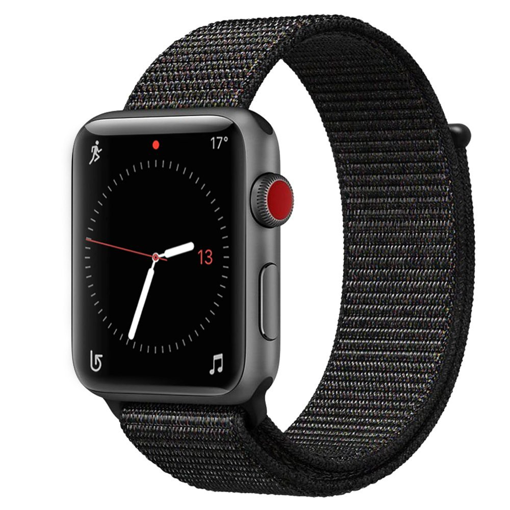VIZCANNOE Soft Woven Nylon Strap for Apple Watch Band