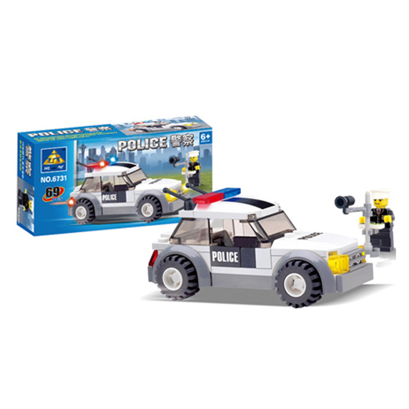 New Original Kazi City traffic police Building Blocks 69pcs/set car Model Bricks Toys Compatible with  6731 new original kazi 6409 city truck model building blocks sets 163pcs lot deformation car bricks toys christmas gift toy sa614