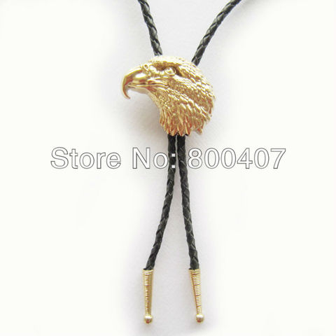 Retail Real Gold Plating Eagle Head Bolo Tie BoloTie BOLOTIE-WT136GD Brand New In Stock Free Shipping Lahore