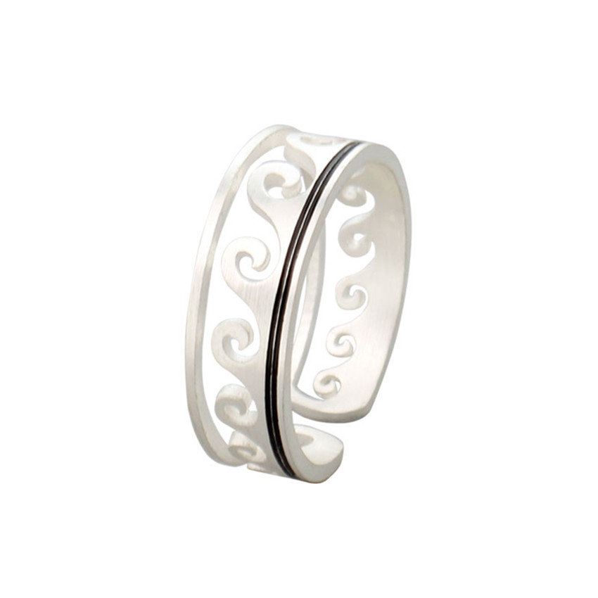 ACEBFEET 10Pcs/lot Wholesale Jewerly for Women Wave Rings Stainless Steel Trendy Accessories for Ladies Gift Mothers Day