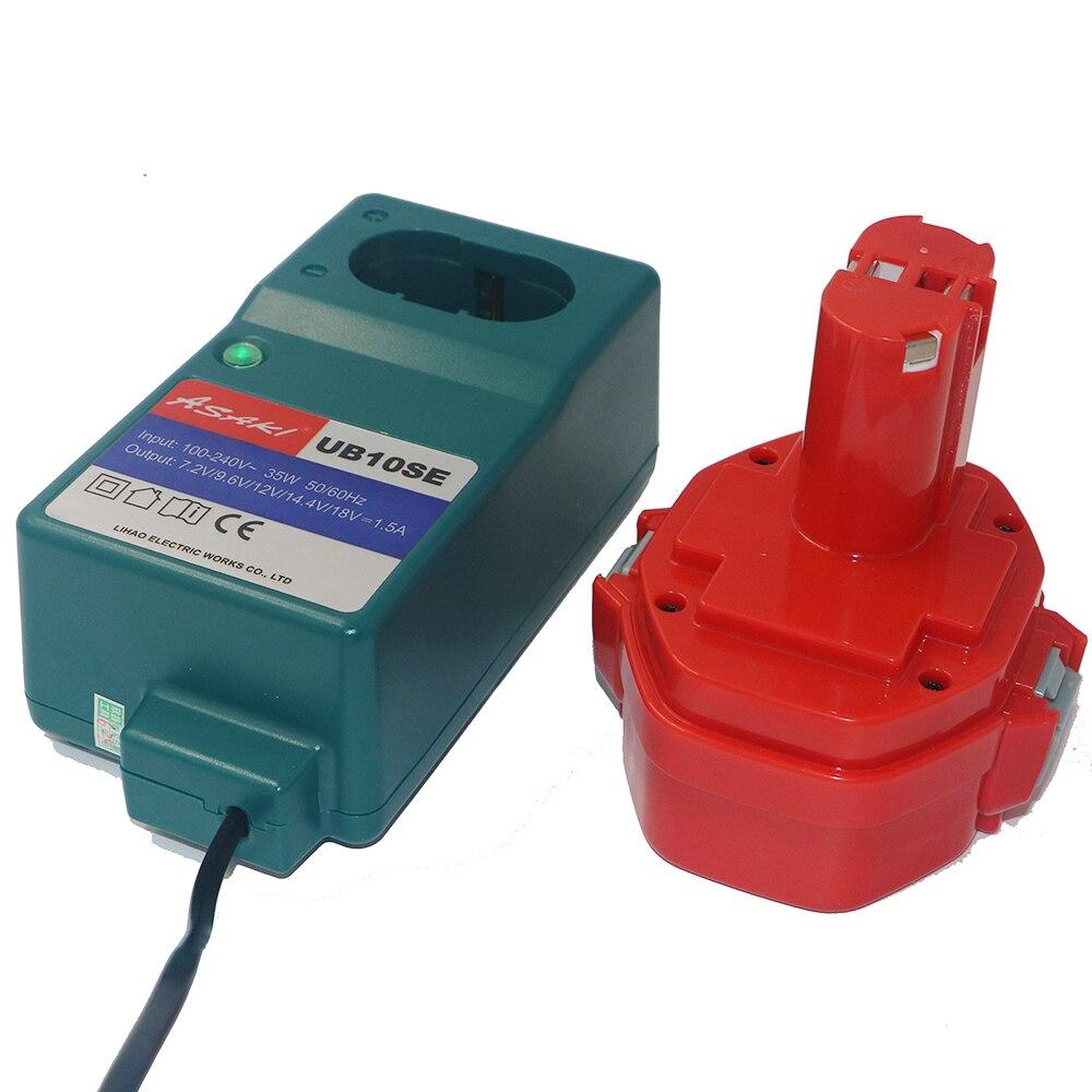 DVISI 12 v 3000 mah Batterie Rechargeable avec Mini Chargeur Général pour Makita PA12 1050 1220 1222 1234 4000 5000 6200 6300 Série