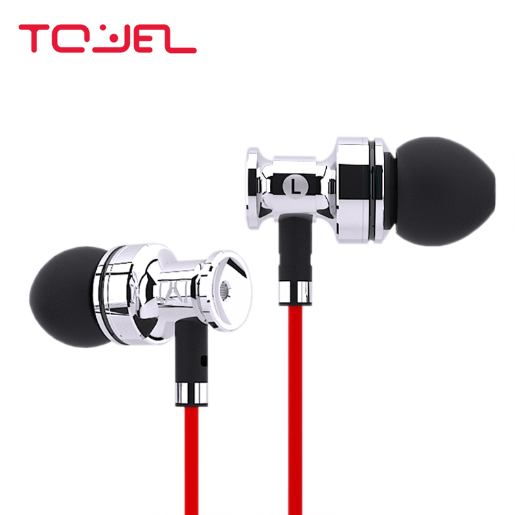 TOYETEAM Thor Copper Aluminum Metal Dynamic Hifi Music Monitor In-Ear Handmade Earphones w/ Mic For iPhone Samsung Xiaomi HTC