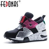 FEDONAS Brand Design Women Genuine Leather Casual Shoes Woman Flats Ladies Sport Breather Sneakers Waterproof Platform