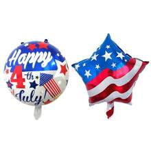 Happy Independence Day Flag Balloons Foil Balloons Holiday Party Decoration Engagement Party Decor Globo Kids Ball Supplies(China)