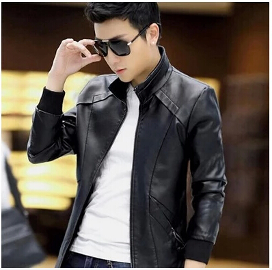 Free shipping men's spring and autumn new leather coat jacket 9868